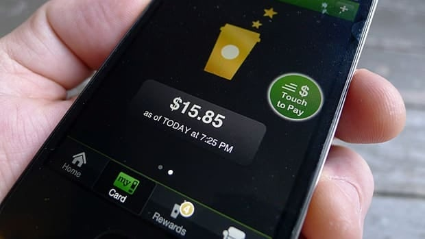 Apps such as this one from Starbucks make it easier than ever to pay for purchases. But there is a cost to our monthly budgets, experts say.