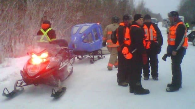 Rescue personnel near Lake Winnipeg prepare to launch a search effort at 4 p.m. CT for two men who went missing Wednesday morning. The men have since been located, RCMP say.