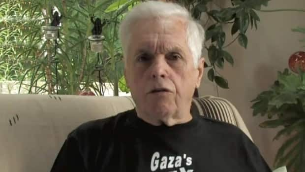 Former NDP MP Jim Manly makes a statement in a pre-recorded video released on YouTube on Saturday Oct. 20, 2012, after the Estelle was commandeered by Israeli troops.