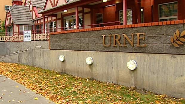 Thieves stripped some of the bronze lettering from the Ashbourne seniors residence in Garneau in south Edmonton.