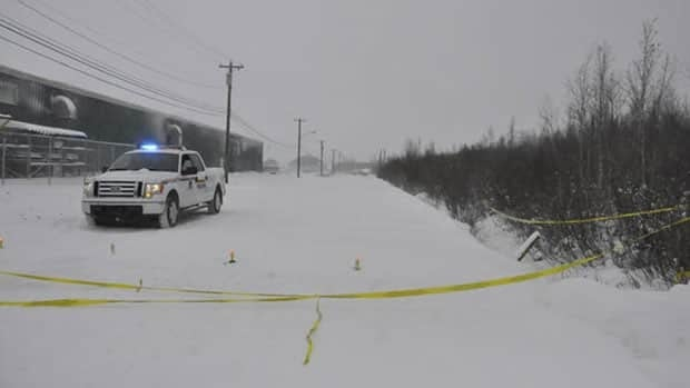 RCMP are investigating the scene on Gwich'in Road where the body was found.