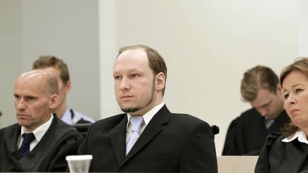 Norwegian mass killer Anders Behring Breivik, centre, killed 77 people.
