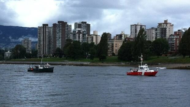 The pleasure boat was towed to False Creek by Kitsilano Coast Guard on Wednesday morning