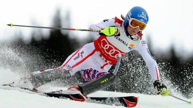 Marlies Schild was forced to withdraw from Thursday's World Cup slalom in Are, Sweden.
