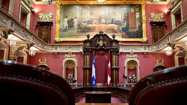 Quebec's national assembly voted to keep the Canadian flag in the legislative council room, known as the Red Room.
