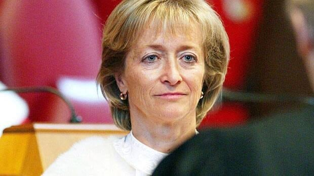 Madam Justice Marie Deschamps, shown at her swearing-in ceremony in 2002, is wrapping up her time at the Supreme Court of Canada after a decade on the top court's bench. She retired on Aug. 7.