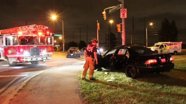 One woman was sent to hospital in critical condition following a head-on crash in Vaughan Thursday night.