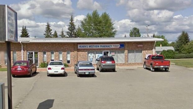 The manager of this Yorkton pharmacy says the business was robbed at gun point.