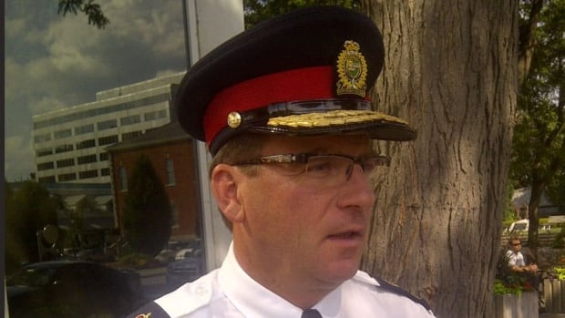 Niagara Regional Police Service Chief Jeff McGuire, seen here, told CBC News some officers have been reassigned and two have been suspended pending an investigation by the force's professional standards groups.