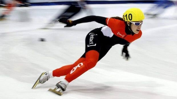 Valerie Maltais during the 3,000-metre relay preliminary at the short-track World Cup speedskating event on Oct. 21, 2011, in Kearns, Utah.