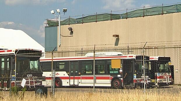 Two people were taken to hospital after a reported industrial accident at a TTC yard on Monday afternoon.