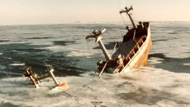 The newsprint carrier Manolis L sunk in 1985, carrying with it tonnes of fuel.