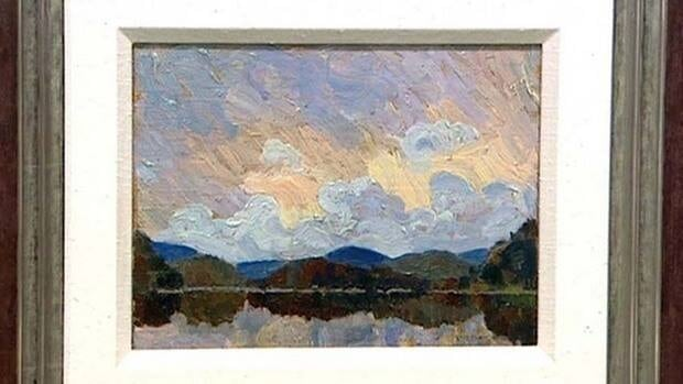 The untitled painting is believed to have been painted by Tom Thomson in about 1915.