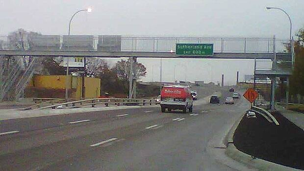 Vehicles head up the ramp onto the new Disraeli Bridge Friday morning.