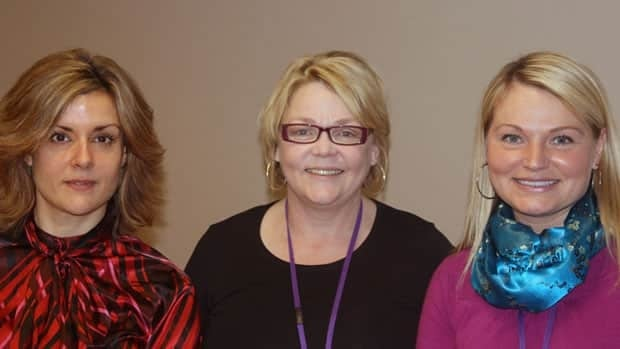 From left to right: Angela Balcolm, Mary Pyche and Mary-Beth Flory are members of the Mental Health Mobile Crisis Team.