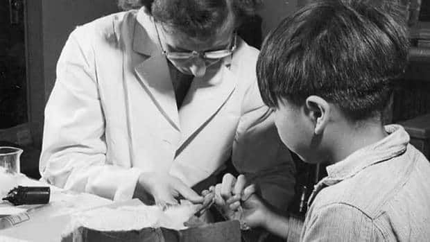 A nurse takes a blood sample from a boy at the Indian School in Port Alberni, B.C., in 1948, during a period when nutritional experiments were being conducted on aboriginal people. Documents show these experiments were approved by a House of Commons committee.
