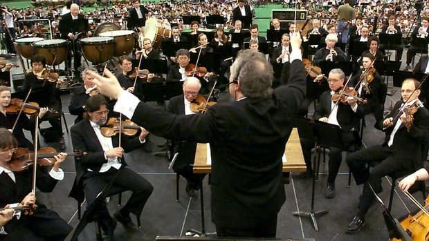 Bramwell Tovey, shown here conducting the VSO, is excited to be moving to the BBC where he started his musical career.