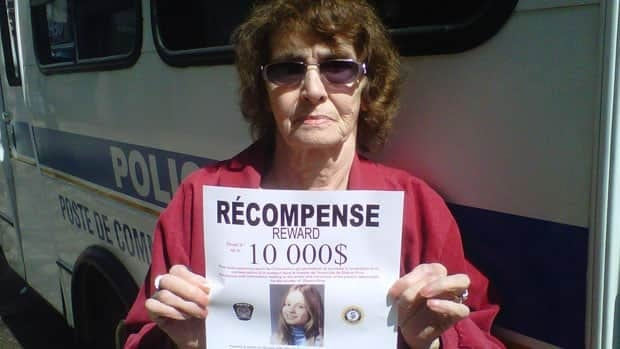 Yvonne Prior holds a missing poster of her daughter Sharron, found dead 37 years ago in Longueuil.