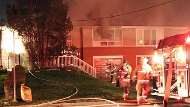 Two people died after fire engulfed a house in the Jane and Sheppard area early Thursday.