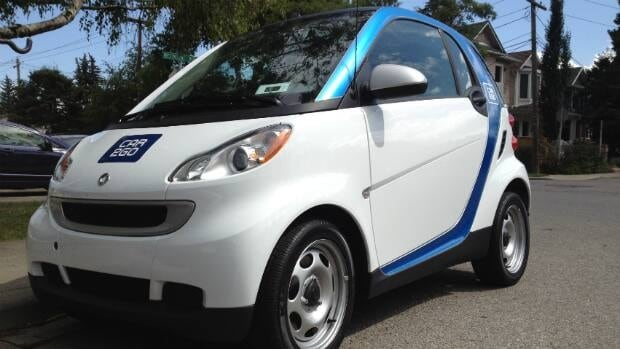 Car2go's car sharing system rolled out in Calgary this weekend with 150 smart cars.