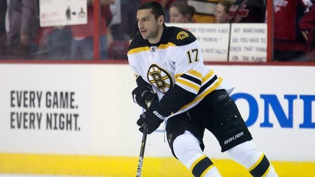 Boston Bruins left wing Milan Lucic scored 26 goals last season and had a career high 35 assists.