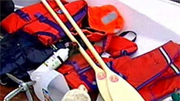 Life-jackets are no better than seat cushions when they aren't being worn, a Red Cross spokesperson says.