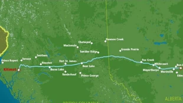 Calgary-based Enbridge wants to build a pipeline that would carry heavy bitumen to Kitimat, B.C., from Bruderheim, Alta.
