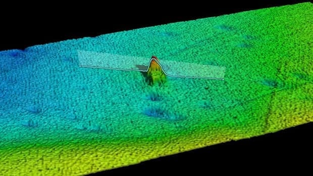 Computer visualization of the SS Terra Nova wreck reconstructed from acoustic data.