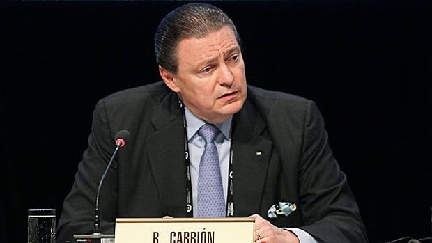 Ricardo Carrion of Puerto Rico, seen in 2012, is seeking to become just the second ever IOC president from the Americas.