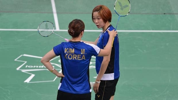 Kim Min Jung, left, and Ha Jung Eun were one of the South Korean women's doubles badminton teams disqualified from the London Olympics for deliberately trying to lose a match.