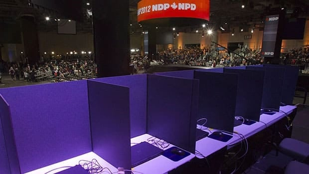 Online voting at the NDP's leadership convention in March was delayed by a cyber attack that slowed down the website. The NDP has dropped further investigation to try and determine who was behind the coordinated disruption campaign.