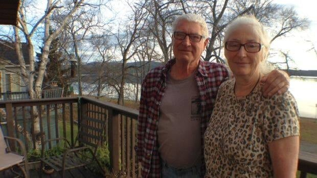 Wawa area residents Jim and Deb Sanders barely made it out when flood waters almost swept their house into Lake Superior.