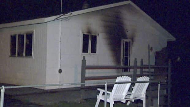 An elderly couple died when this house in Coley's Point was gutted by fire.