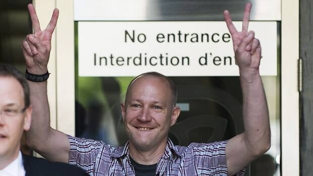 Toronto G20 protester Byron Sonne, a self-described hobby chemist and hacker, was found not guilty on Tuesday of possessing explosives and counselling mischief not committed.