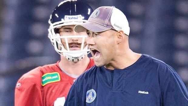 "Argonauts head coach Scott Milanovich exudes calm, although his players say there is a sterner side. ""For the most part, he's very professional and treats us like men,"" says receiver/kick-returner Chad Owens."
