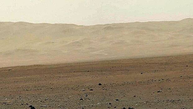 This image provided by NASA on Aug. 13 shows a high-resolution 360-degree colour panorama of Gale Crater taken by Curiosity, one of the first high-resolution photos sent by the rover.