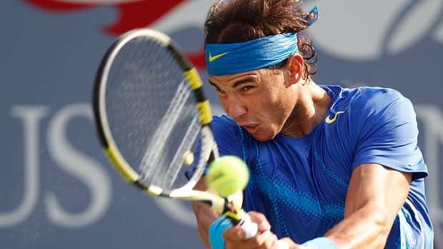 Rafael Nadal, seen during the men's final at the 2011 U.S. Open, hasn't played a match since June 28 because of left knee tendinitis.