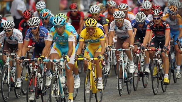 The Tour de France cycling race covers more than 3,360 kilometers over about 21 race days.