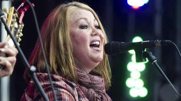 Jann Arden performs during the Alberta Flood Aid concert, which is raising money for her hometown of Calgary and other communities hit hard by flooding in June.