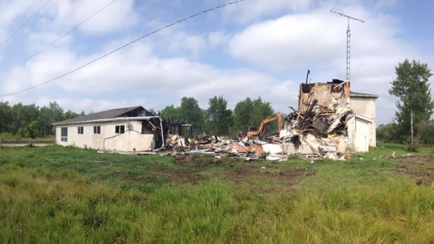 A massive fire on the Brokenhead First Nation destroyed a town house complex on Friday night.