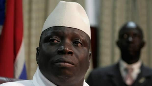 In this September 23, 2006 file photo Gambian President Yahya Jammeh speaks during a press conference following his re-election in Banjul, Gambia.