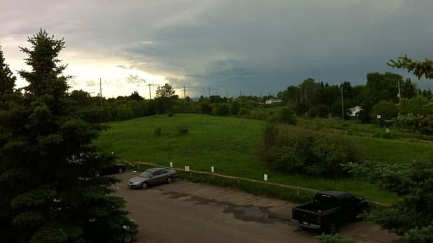 A storm heads east toward Thunder Bay, Ont.