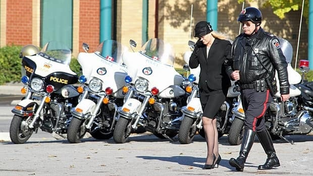 Lincoln Alexander's wife, Marni Beal, at her late husband's funeral procession. Alexander passed away Friday at the age of 90.