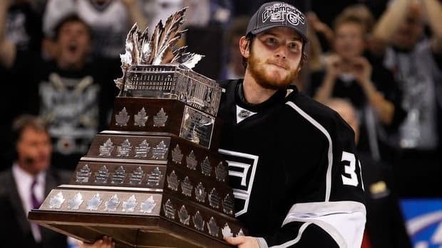 Goaltender Jonathan Quick was the backbone of a Los Angeles Kings team that went on a stunning 16-4 run in the 2011-2012 playoffs.