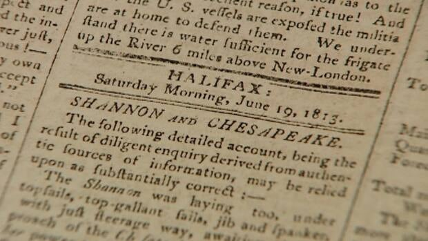 The Acadian Recorder printed a story about the capture of USS Chesapeake by HMS Shannon off Cape Cod on June 1, 1813, one of the most significant naval battles of the War of 1812.