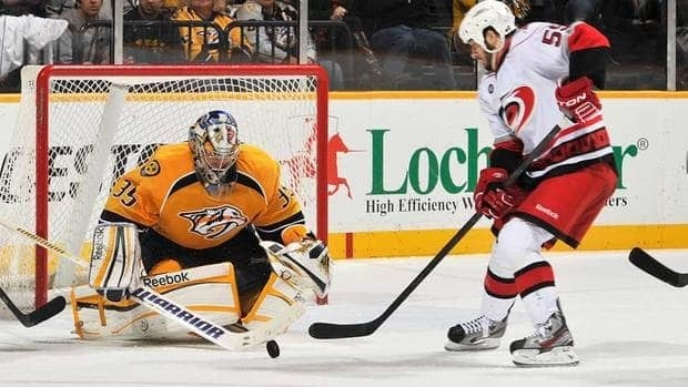 Despite being tied for second with 21 wins, Nashville Predators goalie Pekka Rinne, left, was left off the NHL's all-star roster.