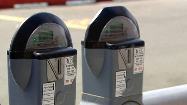 Parking meters in downtown St. John's.