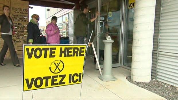 Voters showed up to the polls in Dieppe on Monday afternoon.