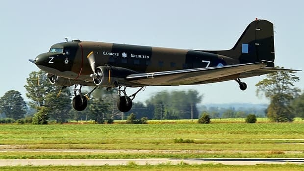 The Canadian Warplane Heritage Museum's Douglas DC-3 Dakota was damaged in a thunderstorm on the night of July 19.