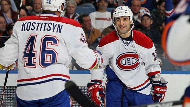 Montreal Canadiens forward Scott Gomez Gomez has been the brunt of plenty of criticism, the combination of a hefty $7.5 million US per year contract and low offensive production.